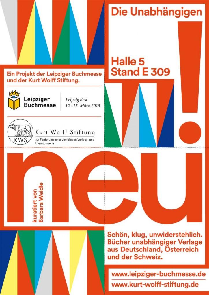 Vorderseite des Faltblattes Die Unabhängigen Leipziger Buchmesse 2015