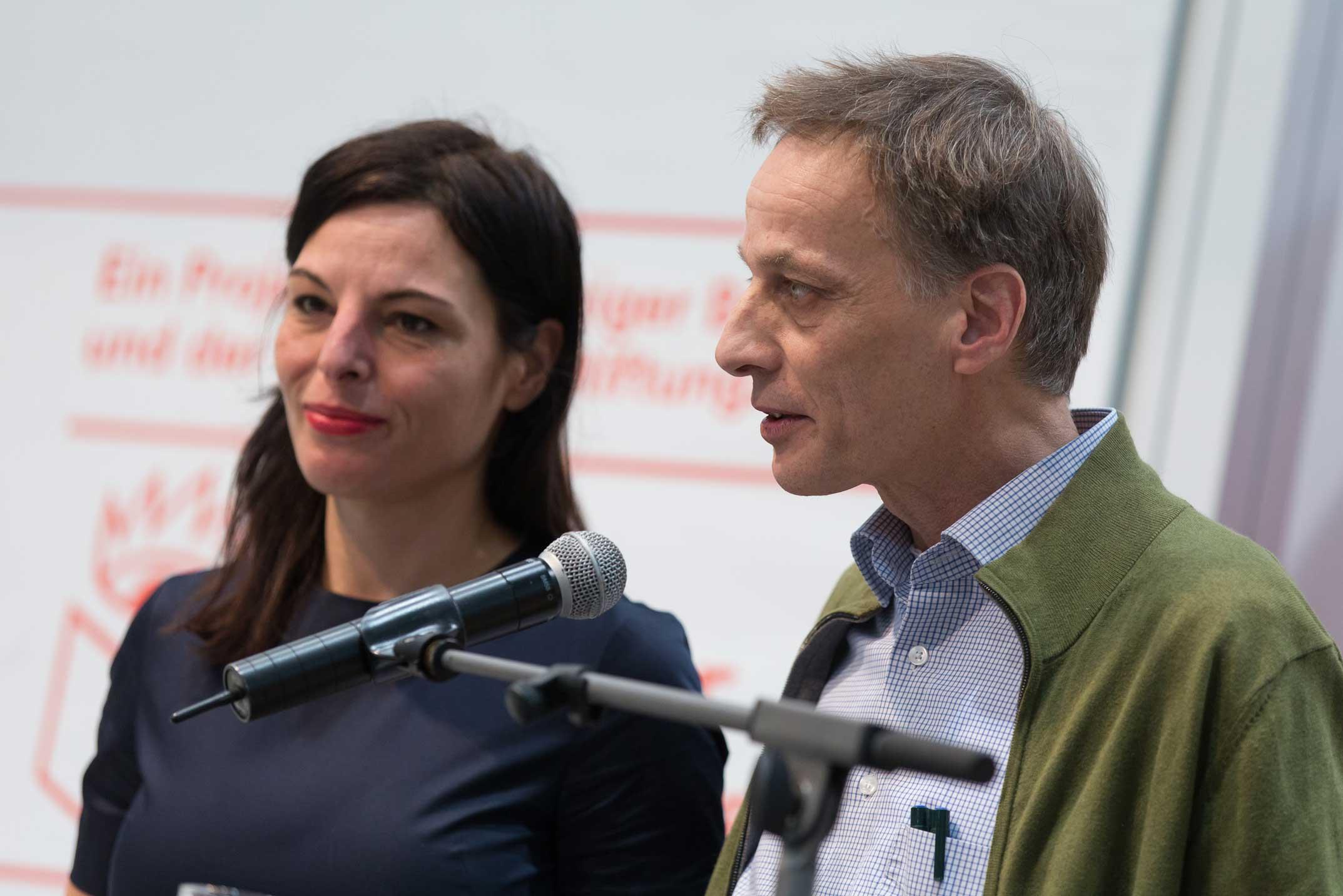 Veruschka Götz (Grafikerin bei Vorwerk 8) und Rainald Gußmann