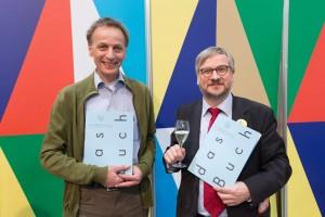 Die Preistraeger Rainald Gussmann und Christoph Links